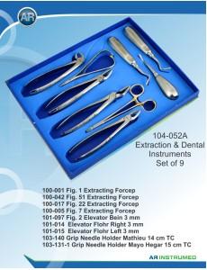 Extraktionsinstrumente Set aus 9 teilen